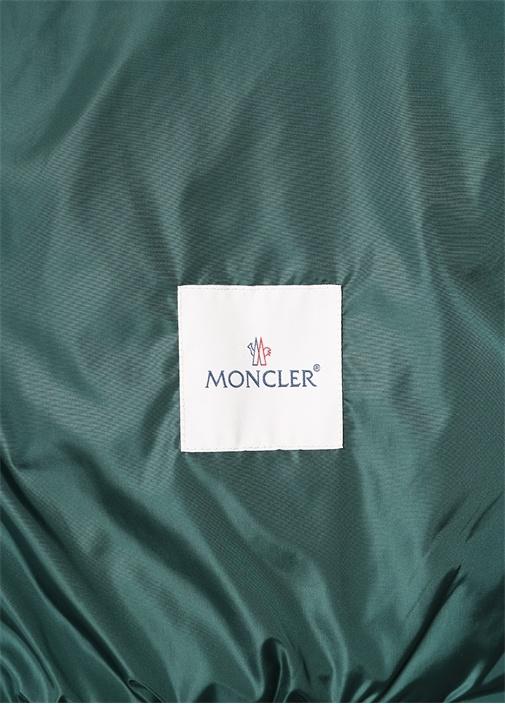 Atlin Yeşil Şerit Detaylı Kapüşonlu Logolu Mont