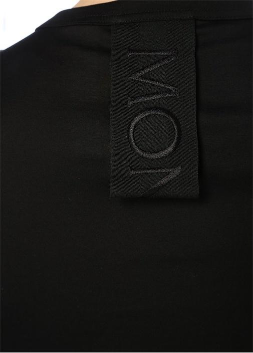 2 Moncler 1952 Siyah Yazı Patchli T-shirt
