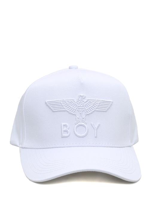 Eagle Beyaz Logo Jakarlı Erkek Şapka