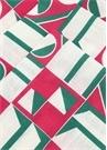 Rosa 6lı Geometrik Desenli Keten PeçeteSeti
