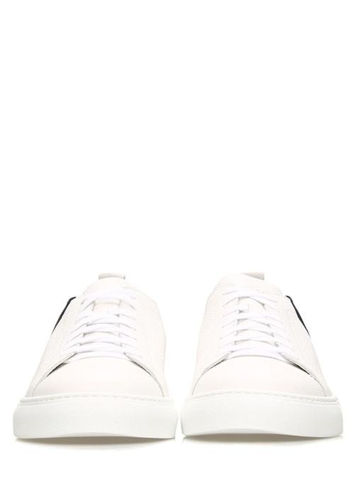Andy Beyaz Logolu Dokulu Erkek Deri Sneaker