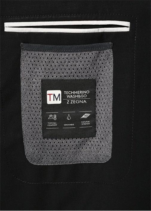 Drop 8 Siyah Wash And Go Techmerino Takım Elbise