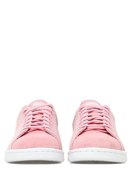 Stan Smith Pembe Beyaz Desenli Çocuk Süet Sneaker