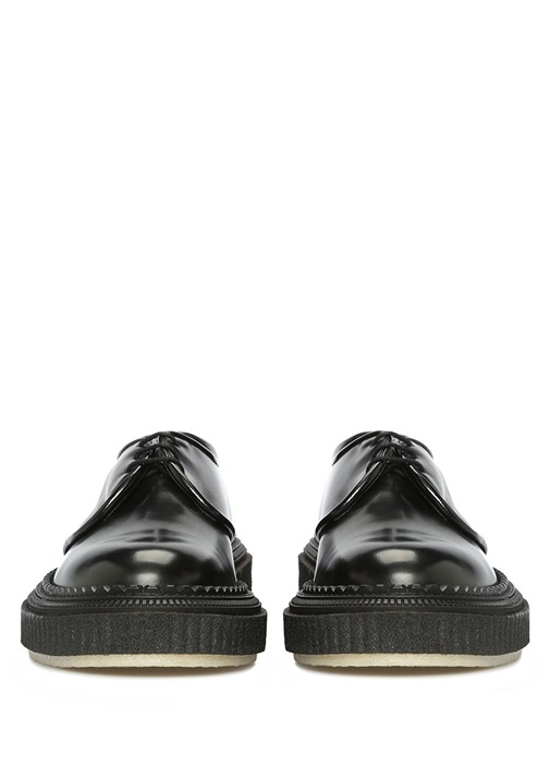 Siyah Taban Detaylı Erkek Deri Ayakkabı