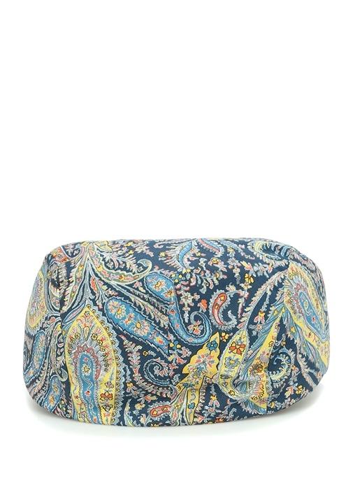 Colorblocked Şal Desenli Erkek Şapka