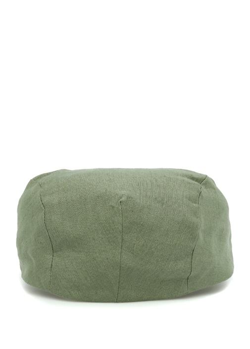 Yeşil Erkek Keten Şapka