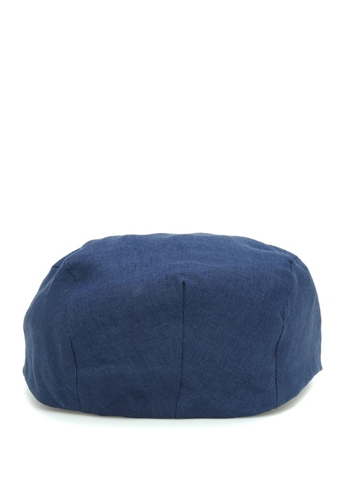 Lacivert Erkek Keten Şapka