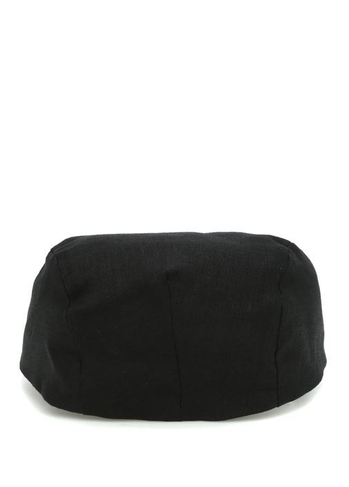 Siyah Erkek Keten Şapka