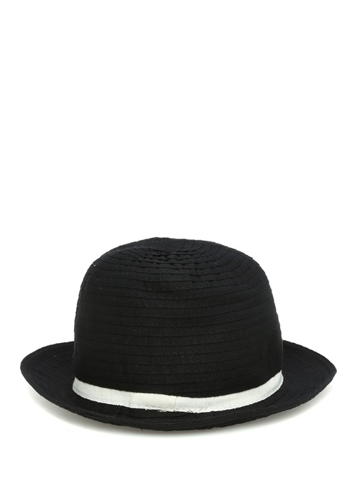 Siyah Kemer Detaylı Erkek Şapka