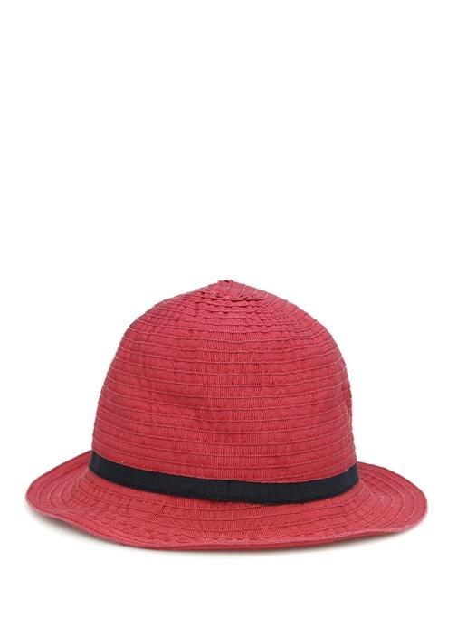 Kırmızı Kemer Detaylı Erkek Şapka