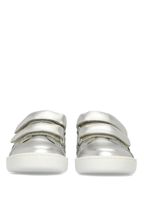 Silver Şeritli Unisex Çocuk Deri Sneaker