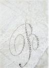 Wedding Çiçek Desenli Çift Kişilik Yatak Örtüsü