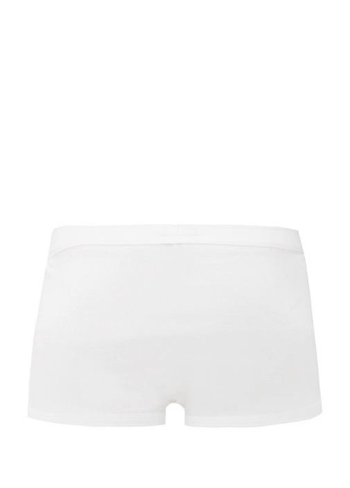 Beyaz Logo Lastikli Boxer