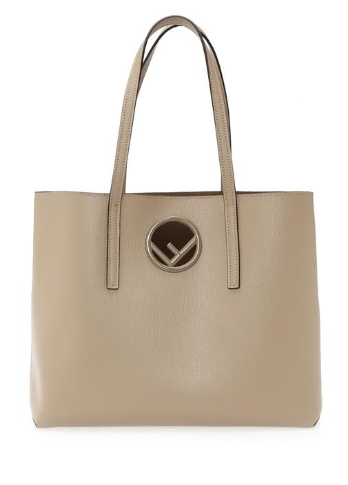 Vizon Logolu Kadın Deri Alışveriş Çantası