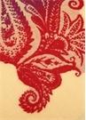 Bej Pembe Çiçek Desenli Püsküllü Yün Throw