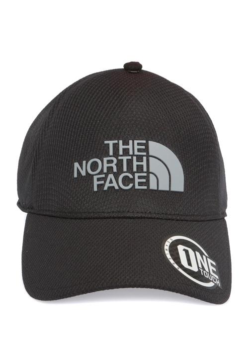 Siyah Gri Logo Patchli Erkek Şapka