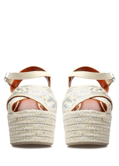 Engie Bej Silver Logo Jakarlı Kadın Sandalet