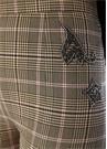 Kamel Ekoseli Patch Detaylı Bol Paça Pantolon