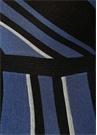 Mavi Siyah Çizgili Tek Kol Midi Triko Elbise