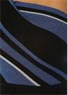 Mavi Siyah Çizgili Tek Kol Crop Triko