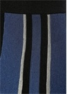 Mavi Siyah Simli Çizgili Midi Örgü Etek
