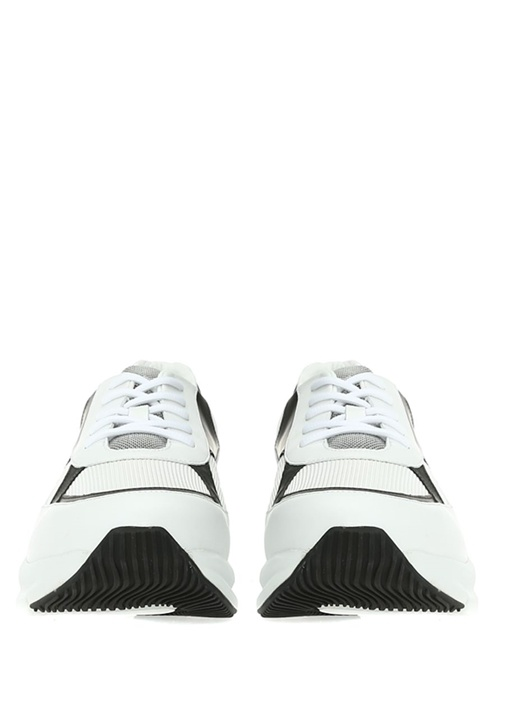Beyaz File Garnili Erkek Deri Sneaker