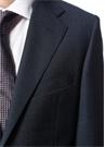Drop 4 Lacivert Ekose Desenli Yün Takım Elbise