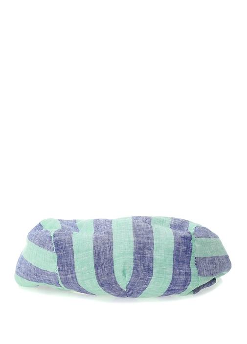 Lacivert Yeşil Çizgili Erkek Keten Şapka