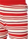 Kırmızı Çizgili Mini Triko Şort