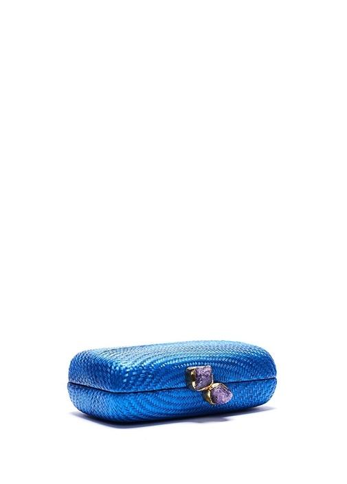 Palma Mavi Doğal Taşlı Kadın El Portföyü