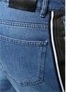 Mavi Normal Bel Yanı Tiktak Bantlı Jean Pantolon