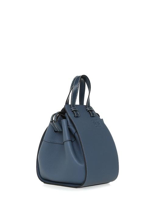 Hammock Mini Mavi Kadın Deri Büzgülü Çanta