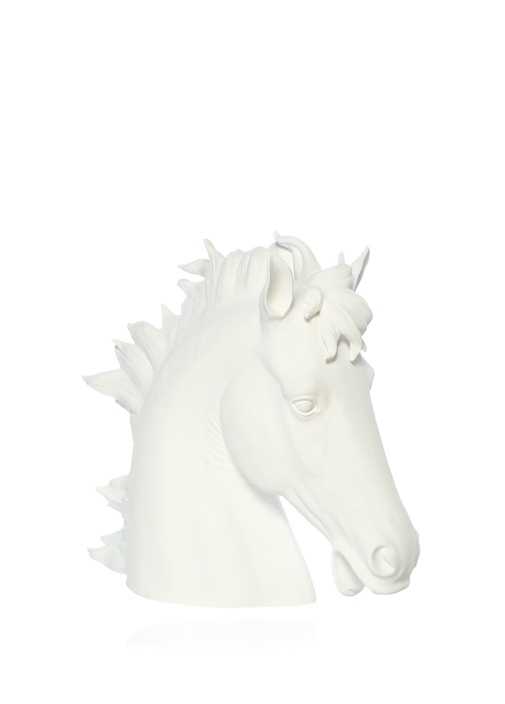 Horse Head Beyaz Seramik Obje