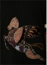 Patchwork Pegaso Oversize Siyah Yün Kazak