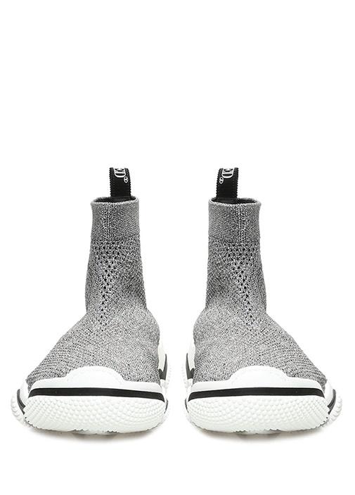 Silver Dokulu Çorap Formlu Kadın Sneaker