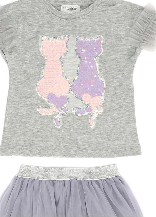 Cats 2li Lila Gri Kız Çocuk Set