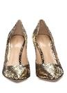 Siyah Gold Desenli Deri Gece Ayakkabısı