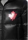 Siyah Kapüşonlu Logo Baskılı Puff Mont