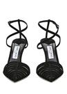 Tamai 100 Siyah İnce Bantlı Deri Sandalet