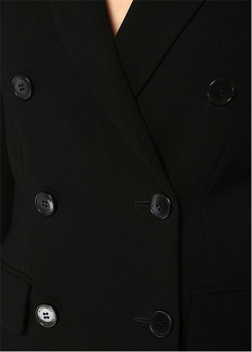 Indiana Siyah Kırlangıç Yaka Kruvaze Ceket