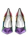 Colorblocked Kadın Deri Stiletto