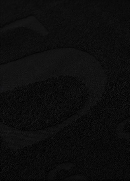 Siyah Logo Jakarlı Erkek Plaj Havlusu