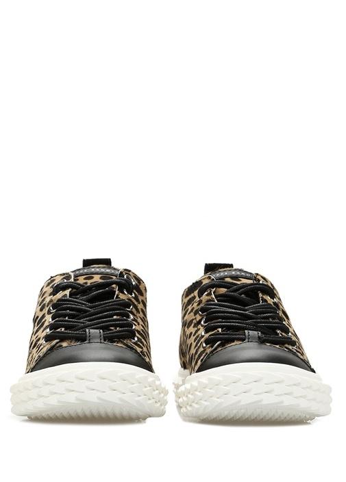 Blabber Leopar Desenli Kadın Deri Sneaker
