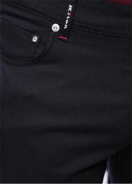 Lacivert Dekoratif Dikiş Detaylı Yün Pantolon
