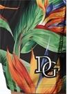 Siyah Yaprak Baskılı Logolu Mayo