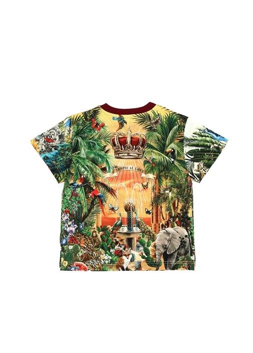 Hawaii Desenli Erkek Çocuk Basic T-shirt