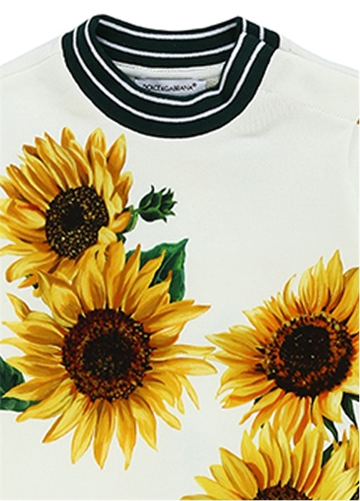 Sunflower Beyaz Baskılı Kız Bebek Hediye Seti