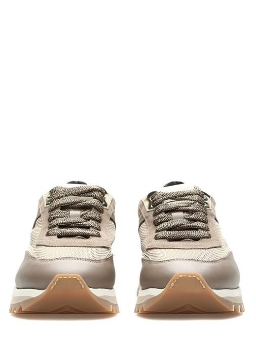 Vizon File Garnili Kadın Deri Sneaker