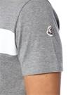 Gri Melanj Logo Baskılı Basic T-shirt