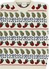 Beyaz Logolu Meyve Jakarlı Kız Çocuk Yün Kazak